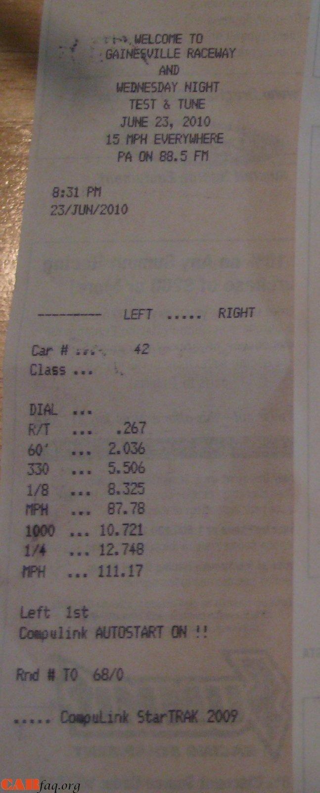 Jaguar XF Timeslip Scan