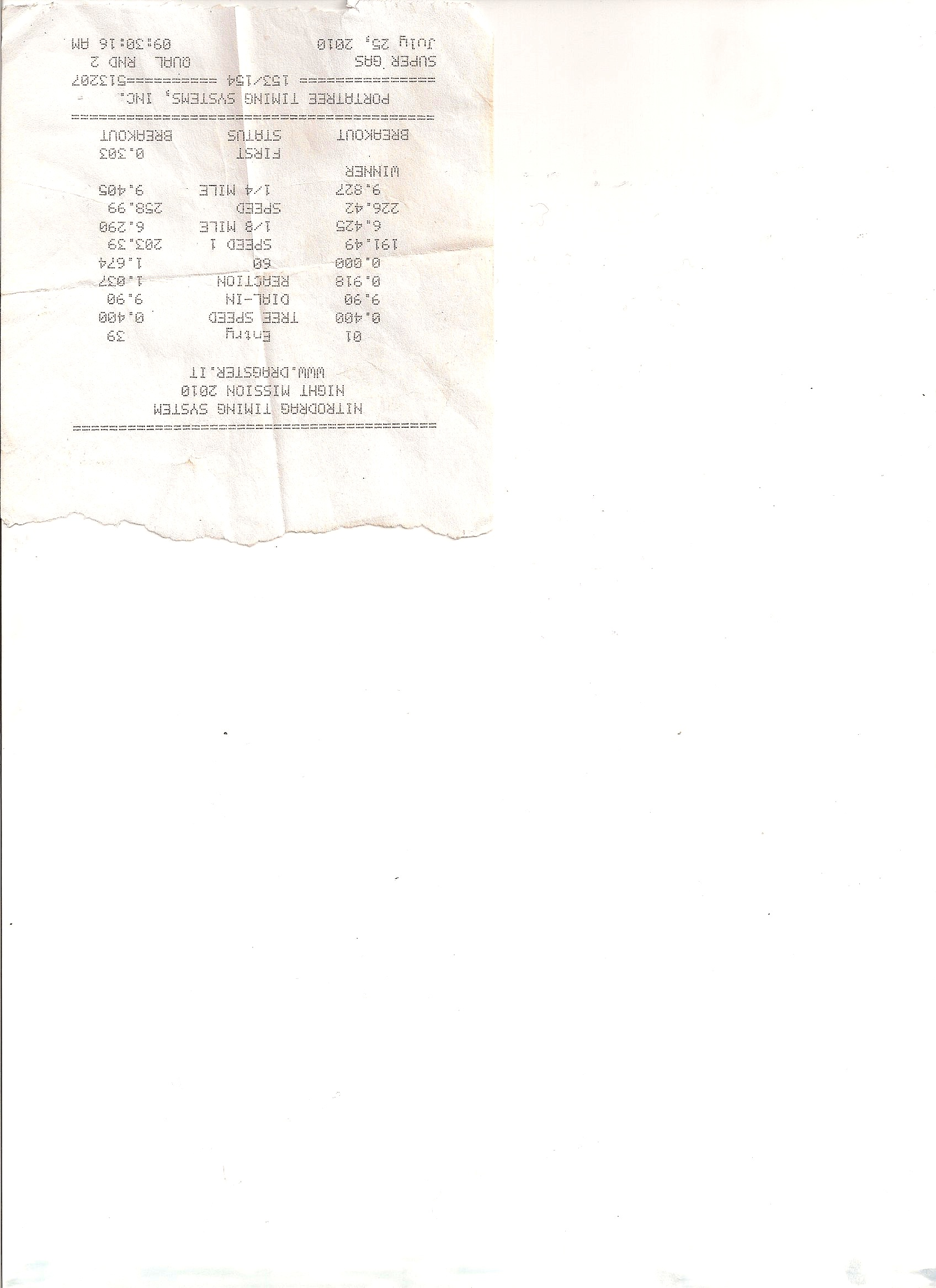 Fiat Coupe Timeslip Scan