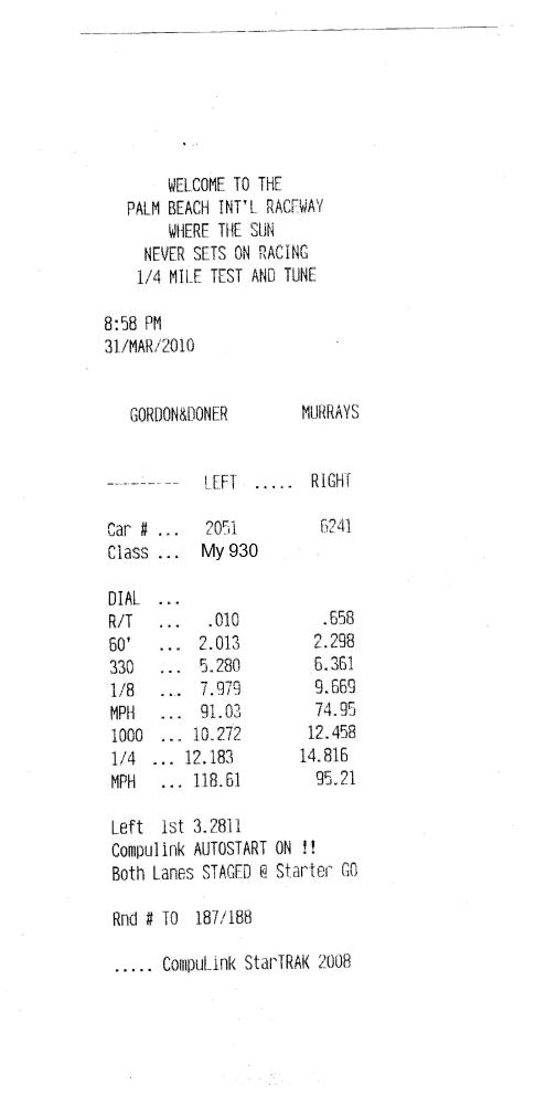 Porsche 930 Timeslip Scan