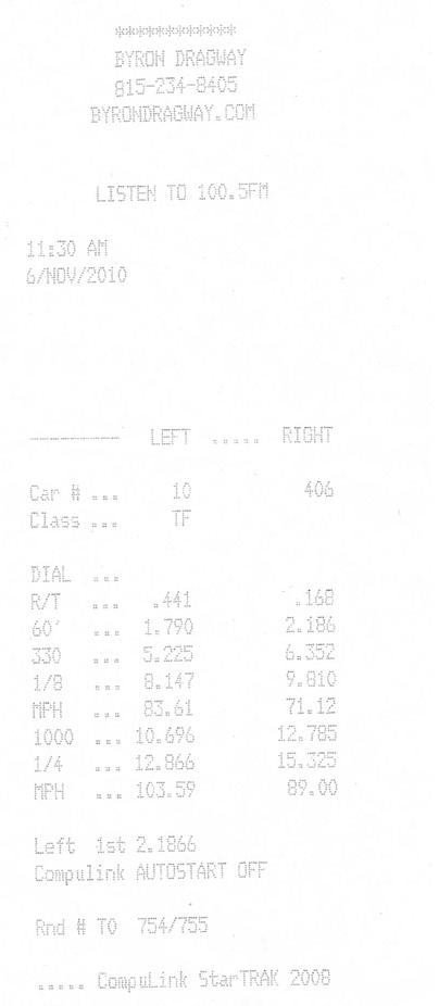 Lexus IS250 Timeslip Scan
