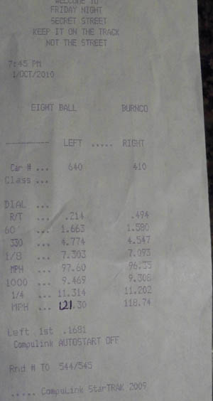 Plymouth Duster Timeslip Scan