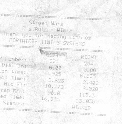 Porsche 928 Timeslip Scan