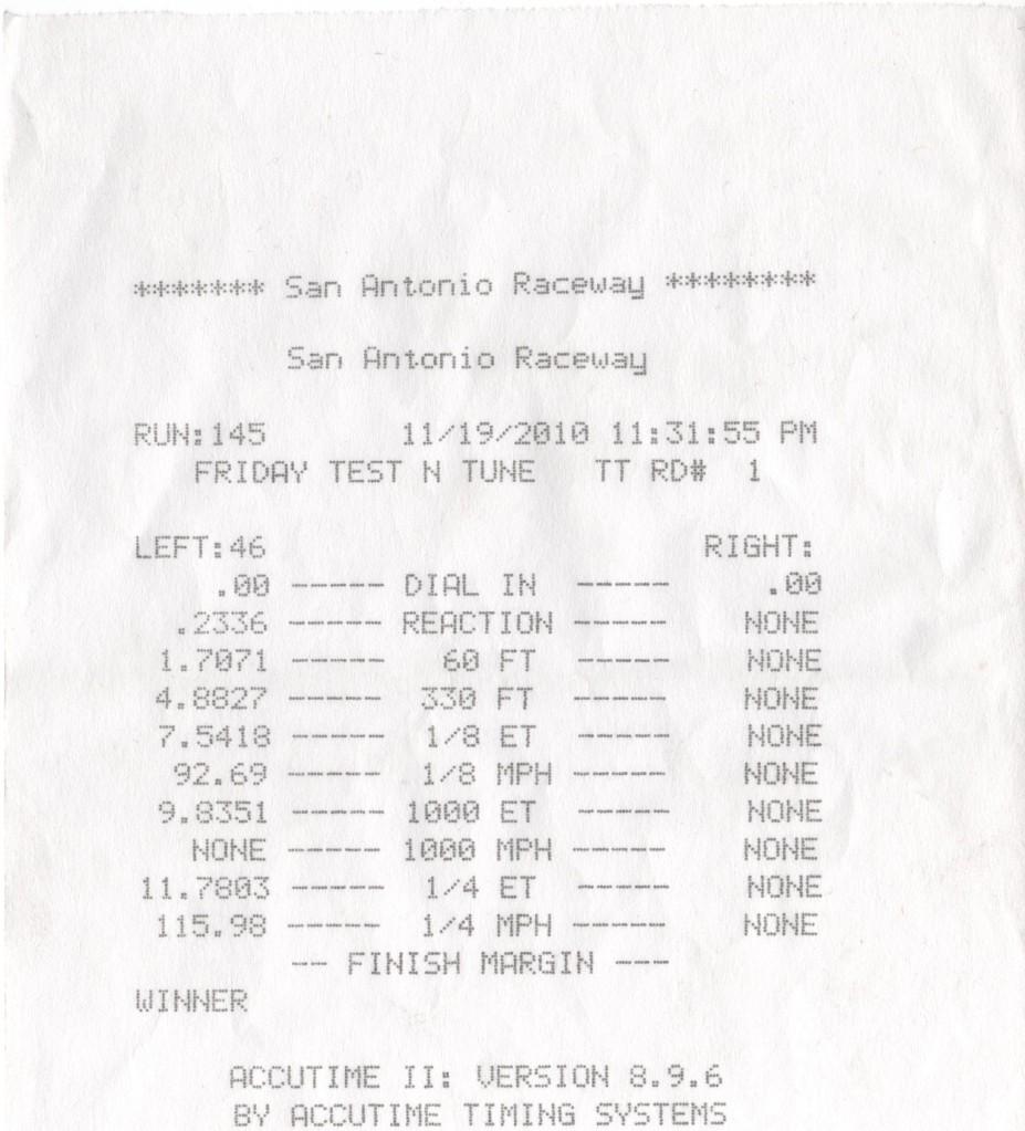 Pontiac Firebird Formula Timeslip Scan