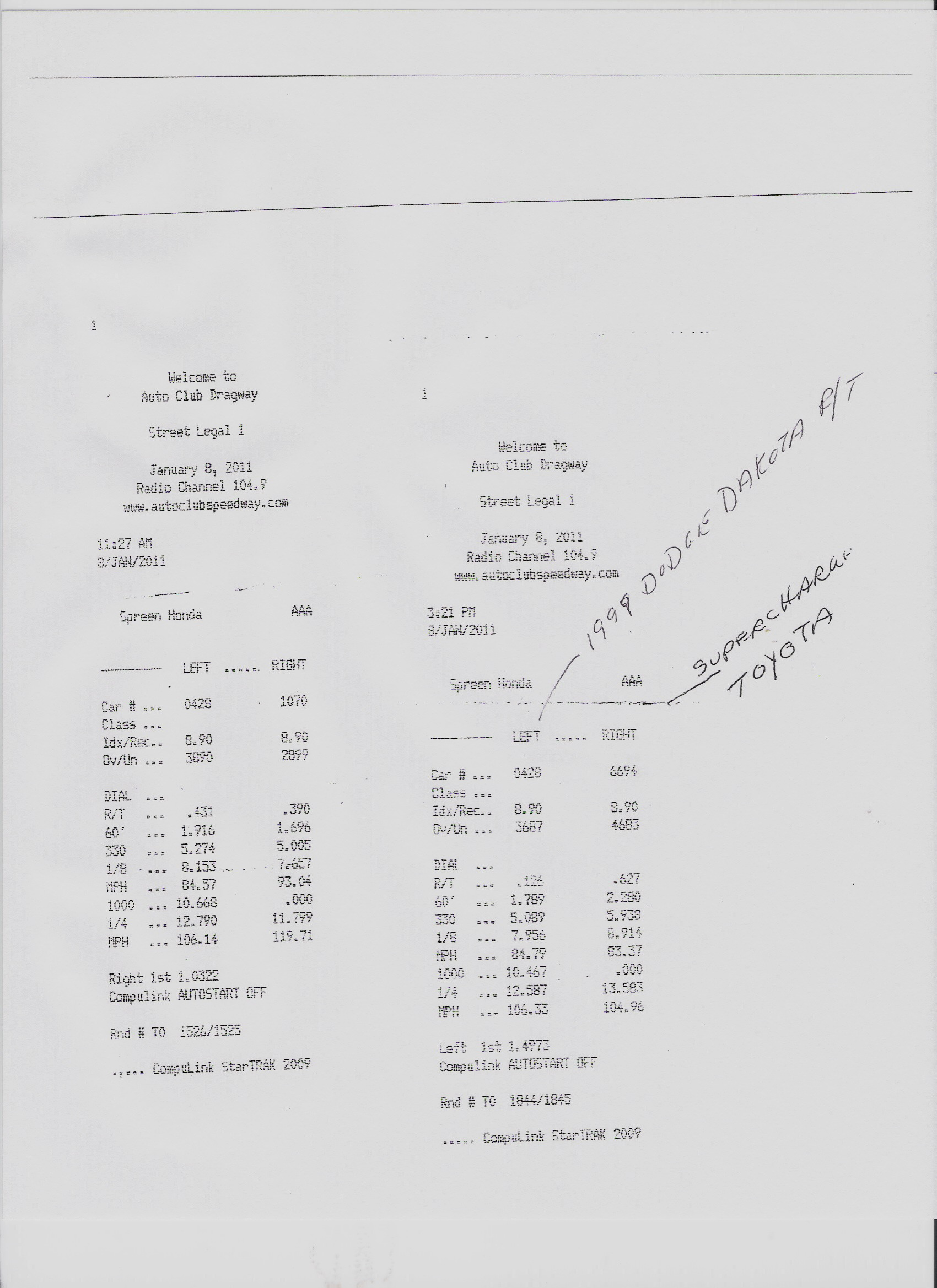 Dodge Dakota Timeslip Scan