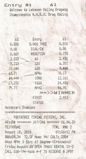 1966  Ford Mustang GT Timeslip Scan