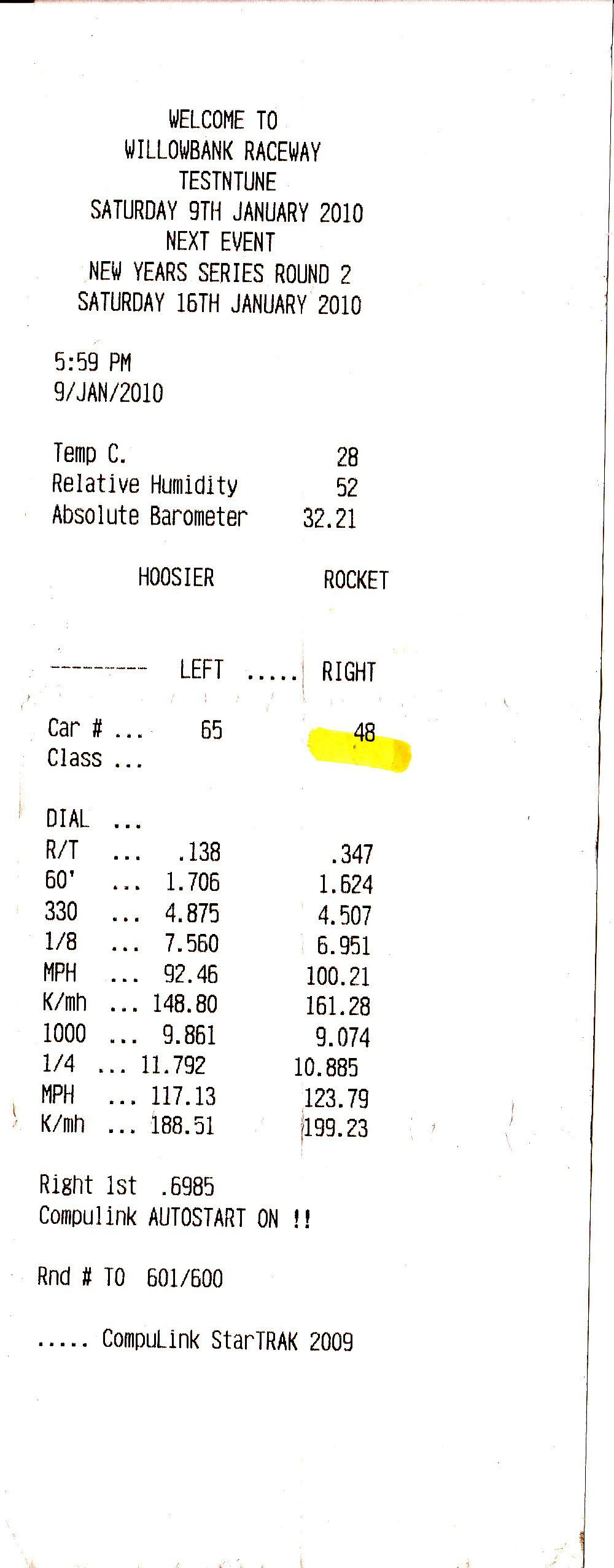 Dodge Dart Timeslip Scan
