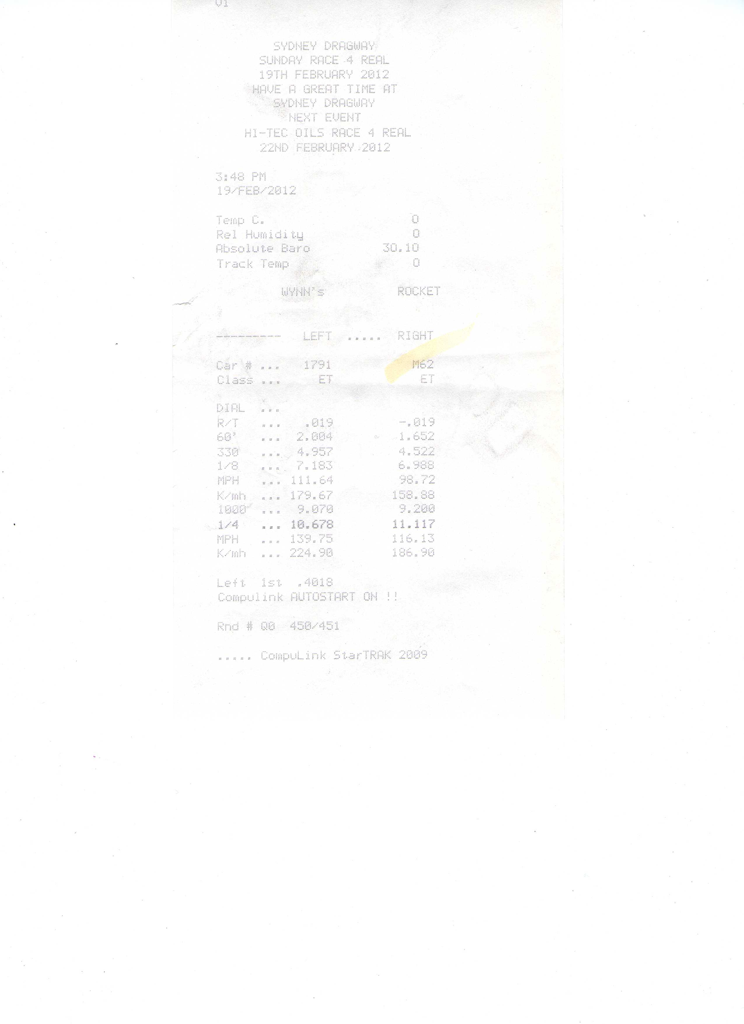 Honda CB Timeslip Scan