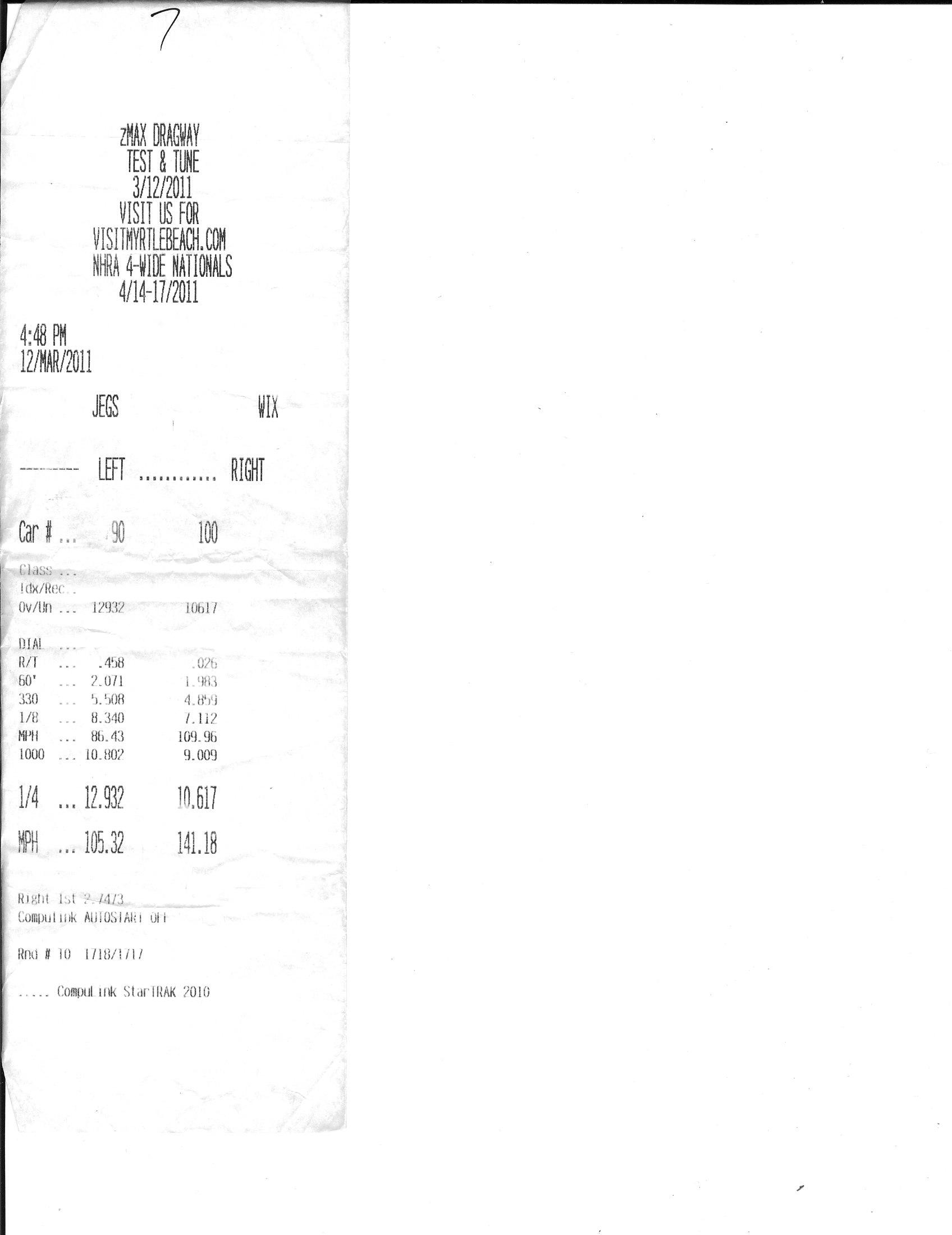 Honda VTX Timeslip Scan