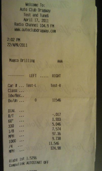 2007 Mercedes-Benz CLS63 AMG Nitrous Timeslip Scan