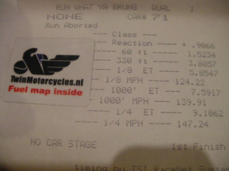 2008 Buell 1125 1125R stock bike Timeslip Scan
