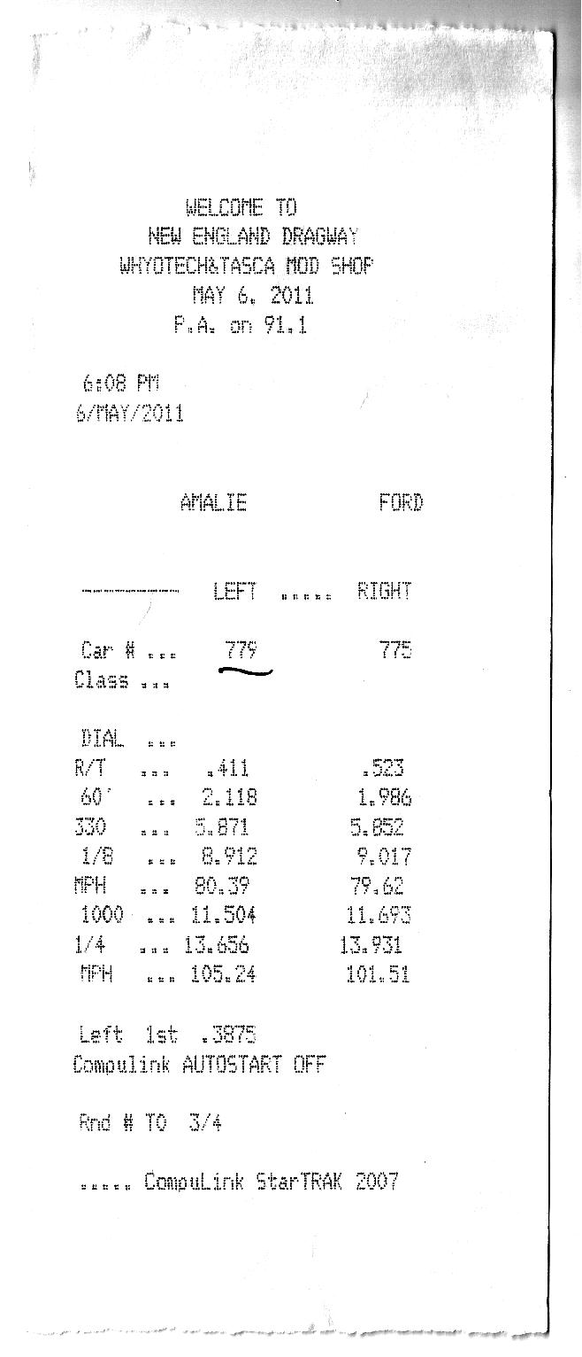2004  Ford Mustang Mach 1 Timeslip Scan