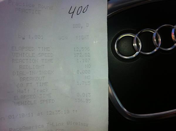 Audi A5 Timeslip Scan