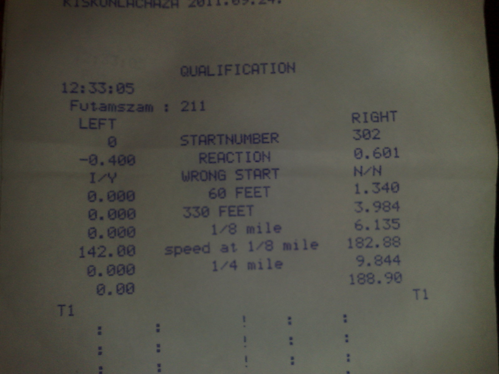 Fiat X19 Timeslip Scan