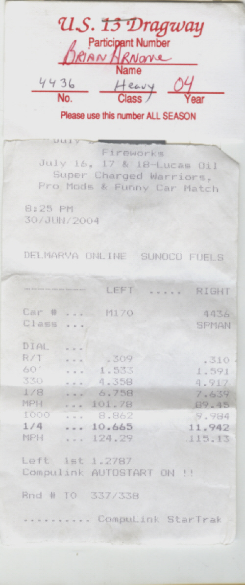 Chrysler Conquest Timeslip Scan