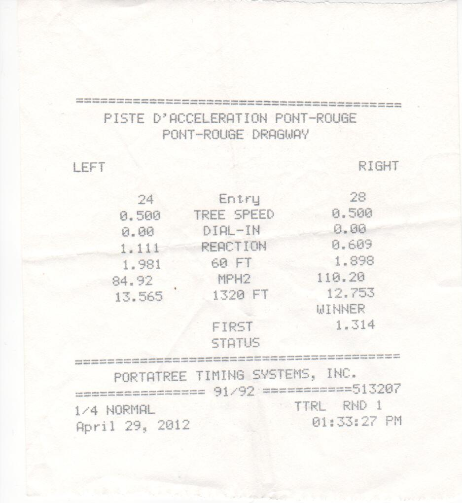 Chevrolet Colorado Timeslip Scan