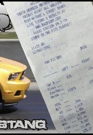 2011 Yellow Blaze Ford Mustang 3.7L V6 ProCharger D1 Supercharged Timeslip Scan