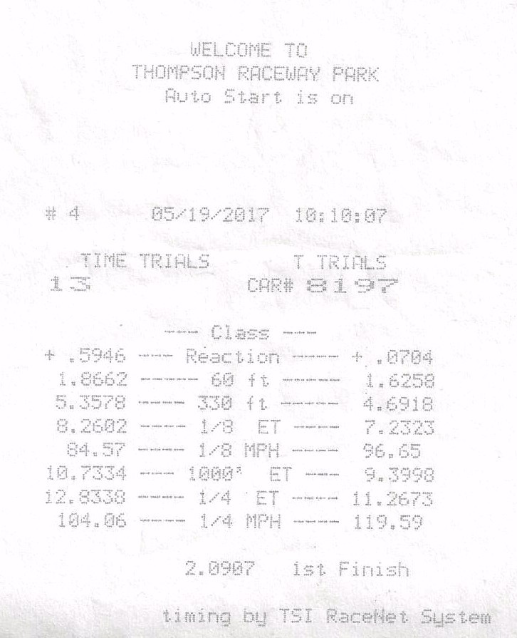 2007 Ford Mustang 4.0L 61mm Precision Turbocharger Timeslip Scan