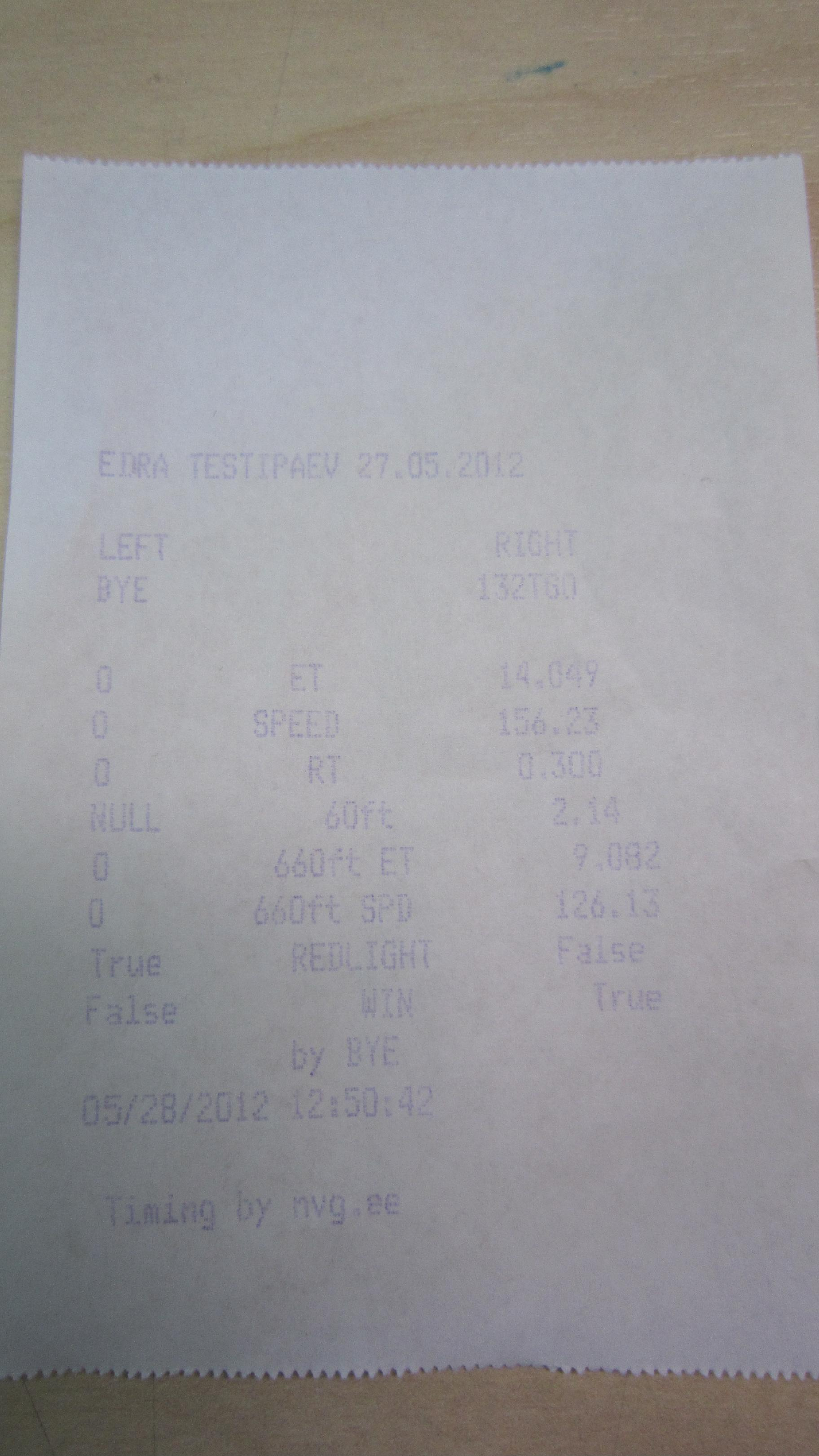 BMW 540i Timeslip Scan