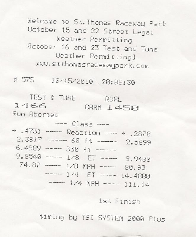 1994 Volvo 850 Turbo Timeslip Scan