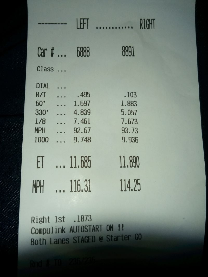 2007 Super White Toyota Tundra RCSB Timeslip Scan