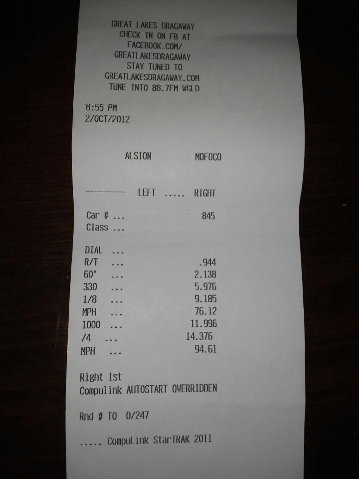 Acura RDX Timeslip Scan