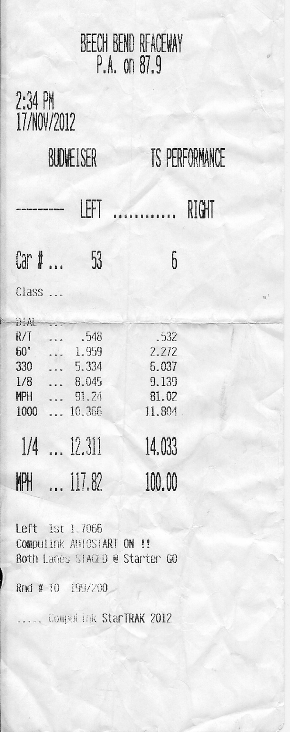 2006 Chevrolet Corvette Coupe Timeslip Scan