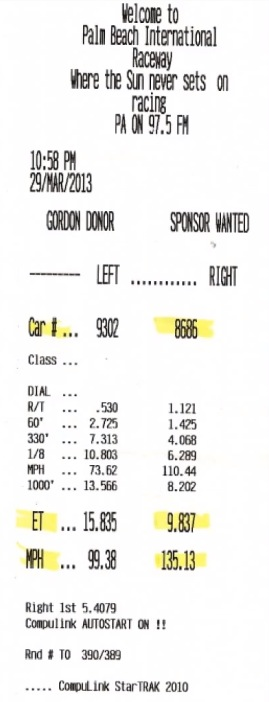 Porsche 911 Turbo Timeslip Scan