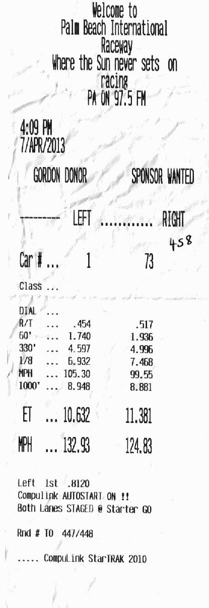 Ferrari 458 Timeslip Scan