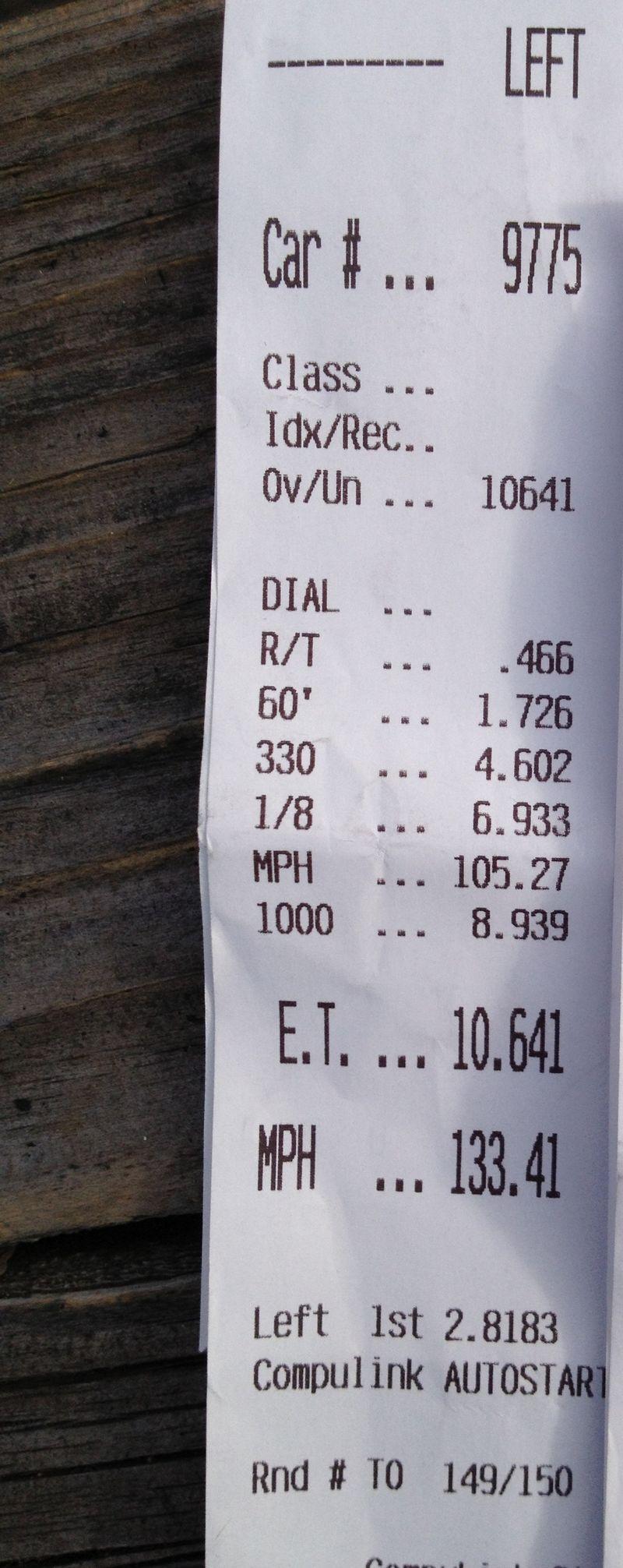Chevrolet Corvette ZR1 Timeslip Scan