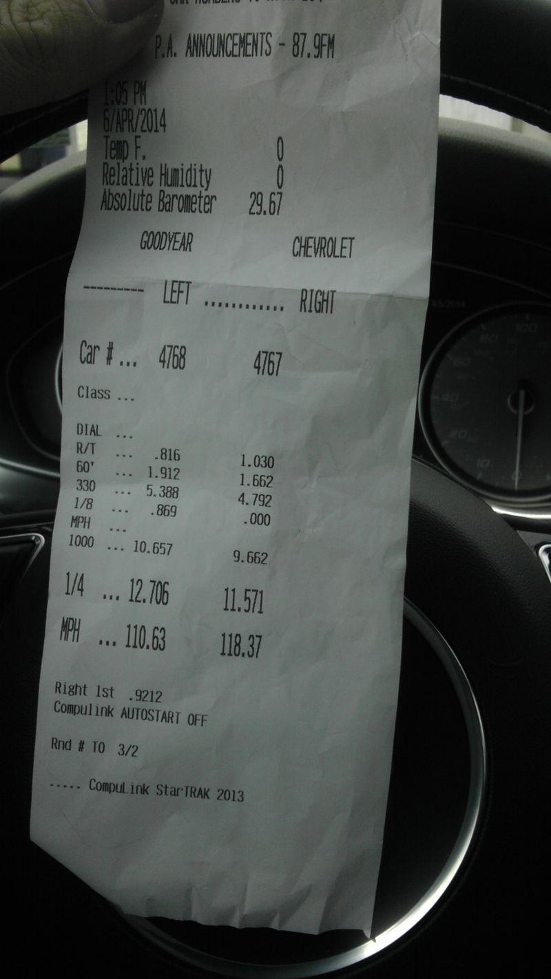 Audi S6 Timeslip Scan