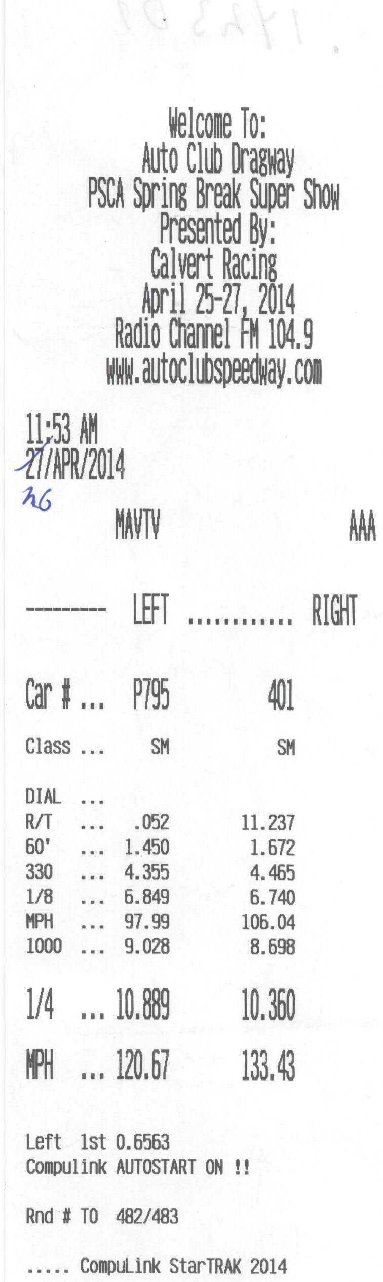 McLaren MP4-12C Timeslip Scan
