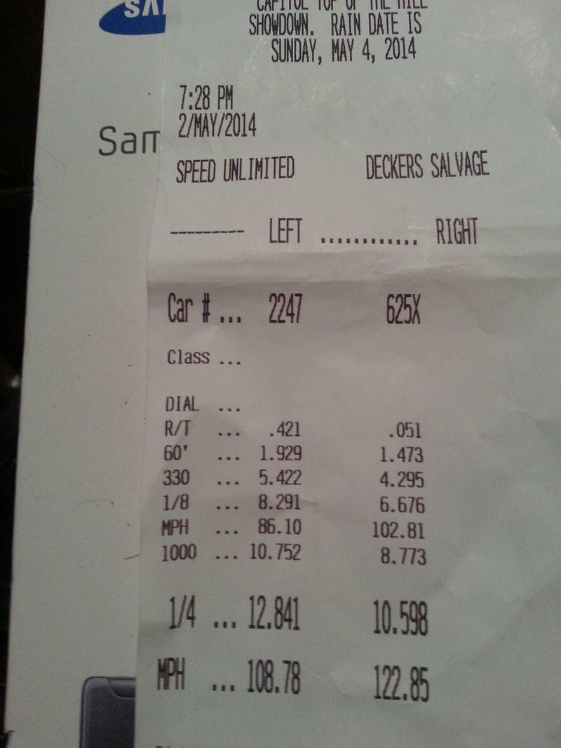 Nissan 370Z Timeslip Scan