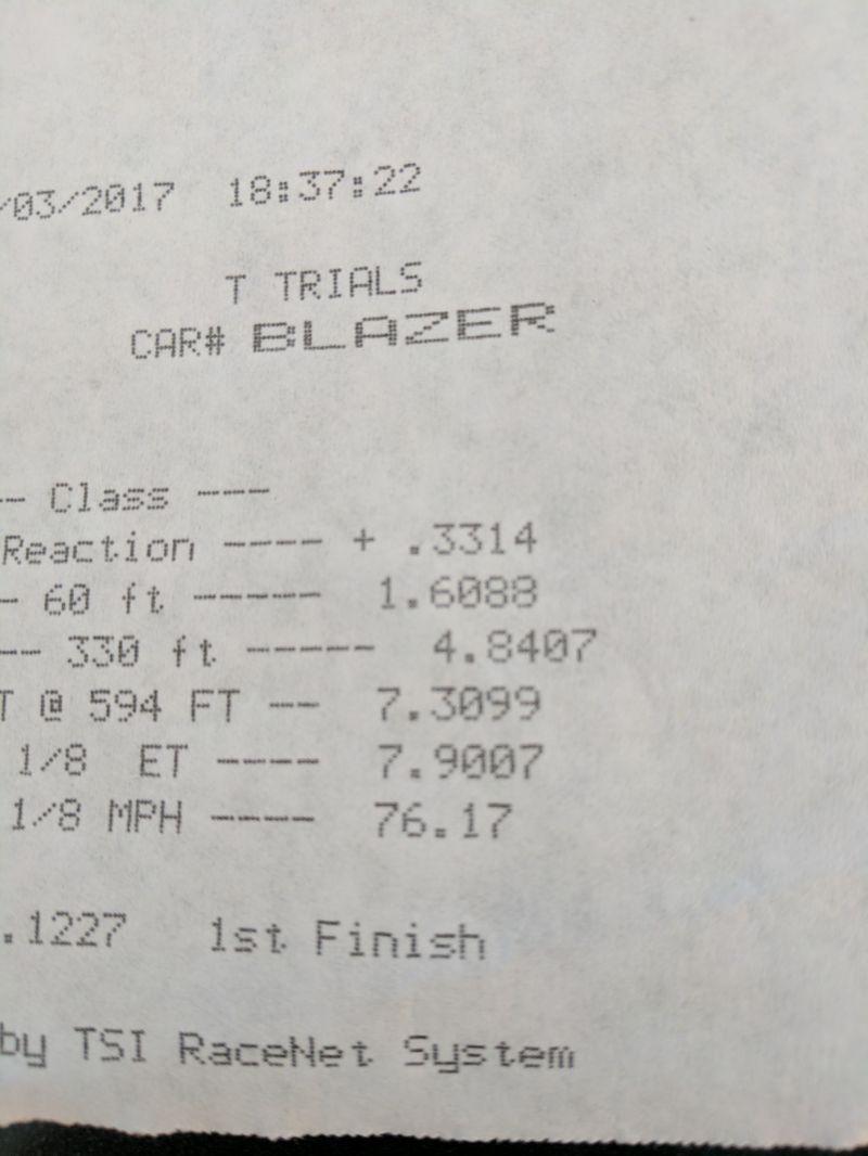 Chevrolet S10 Blazer Timeslip Scan