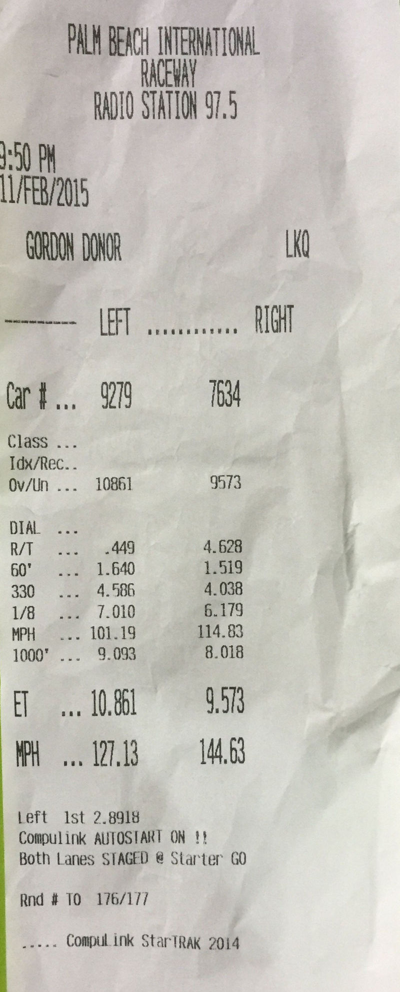Dodge Challenger Hellcat Timeslip Scan