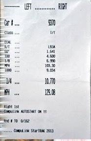 Chevrolet Corvette C7-Z06 Timeslip Scan