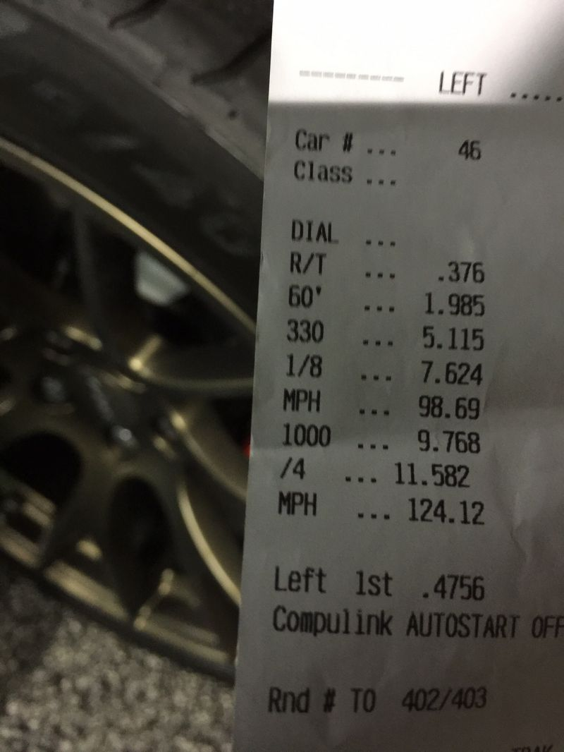 Dodge Charger Hellcat Timeslip Scan
