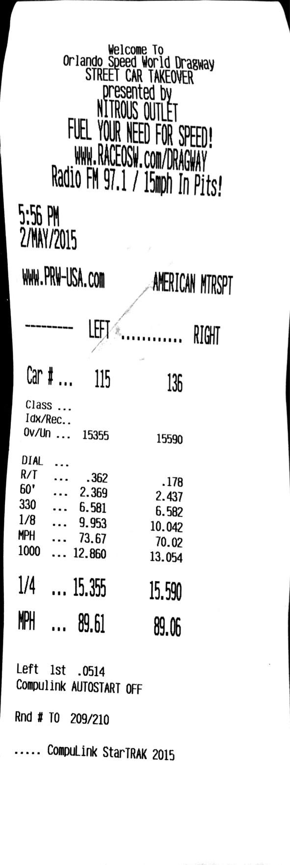 Fiat 500 Timeslip Scan
