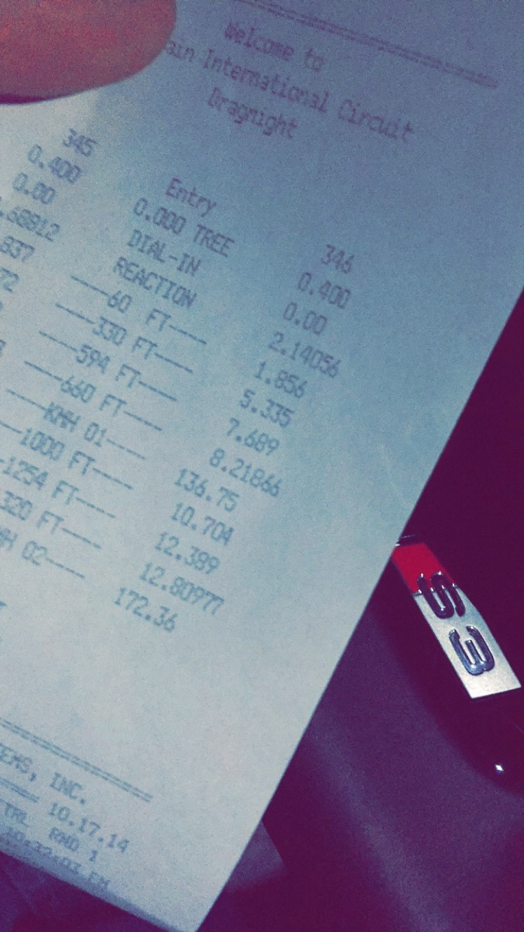 Audi S3 Timeslip Scan