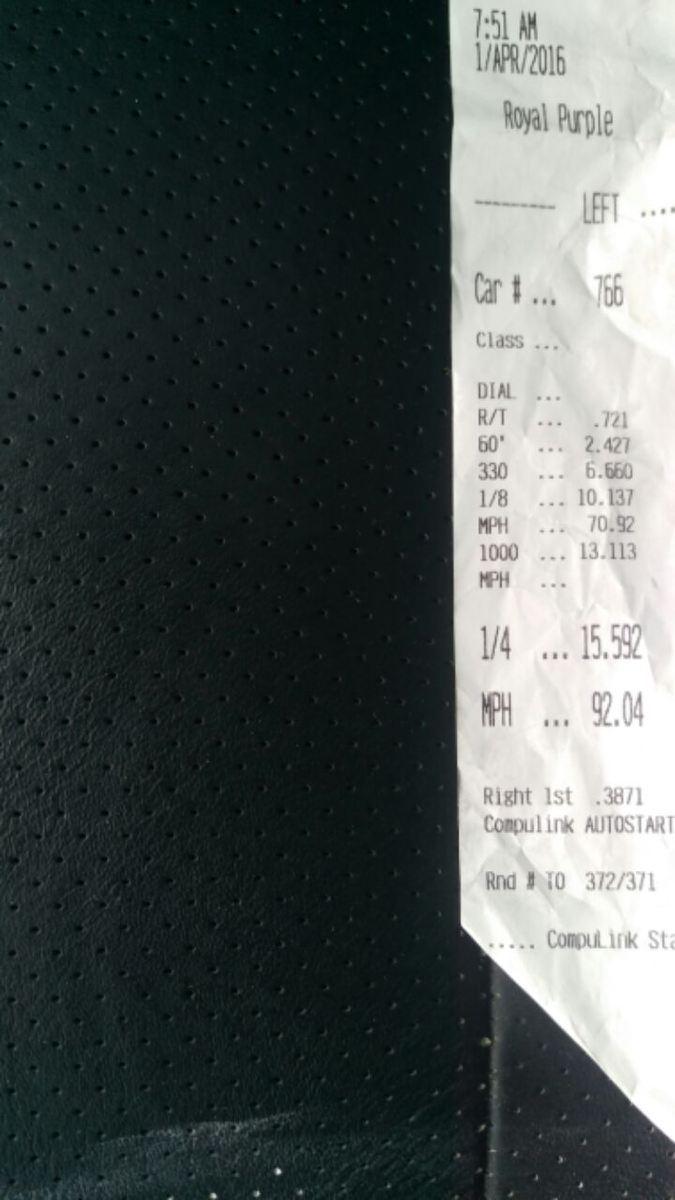 Pontiac G6 Timeslip Scan