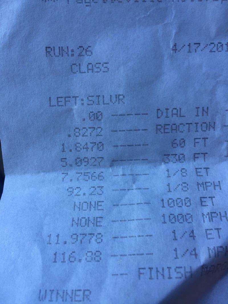 Chrysler 300 Timeslip Scan