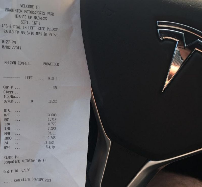 Tesla Model X Timeslip Scan