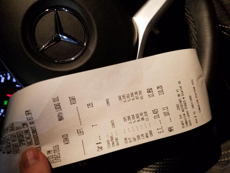 Mercedes-Benz GLA45 AMG Timeslip Scan