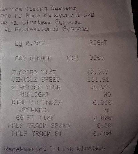 Subaru WRX Timeslip Scan