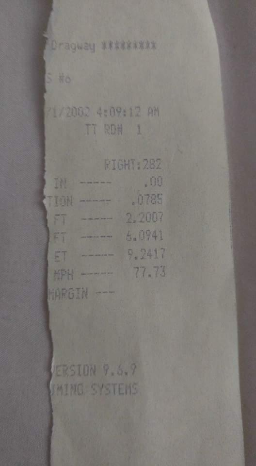 Chevrolet Impala Timeslip Scan