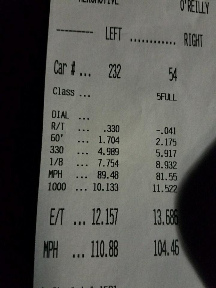 Ford F150 Timeslip Scan