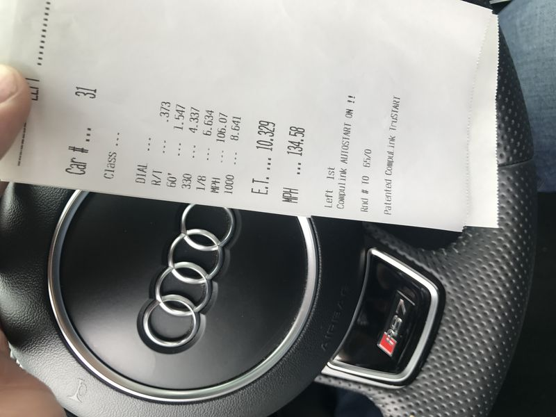 Audi RS-7 Timeslip Scan