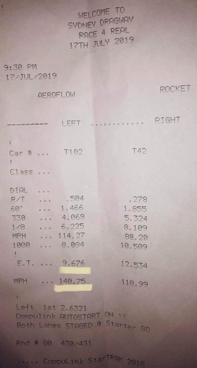 Toyota Supra Timeslip Scan