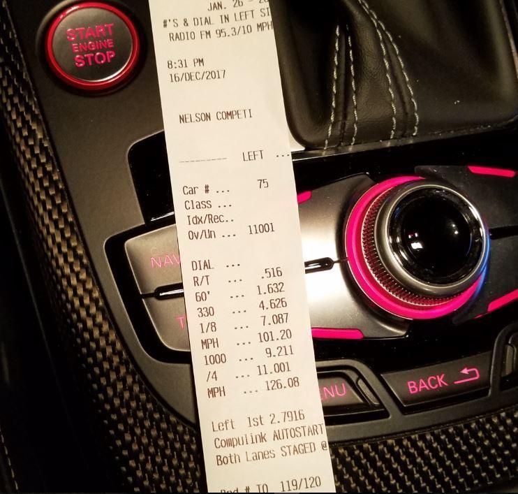 Audi S5 Timeslip Scan