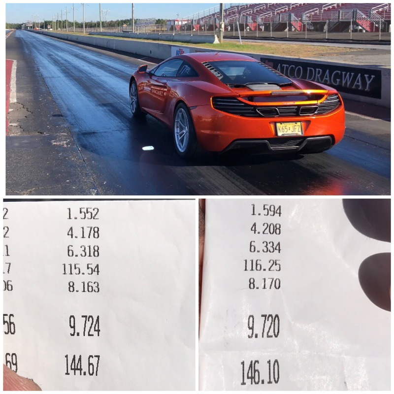 McLaren MP4-12C Timeslip Scan