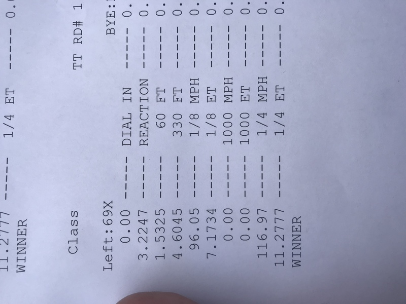 Chevrolet SS Timeslip Scan